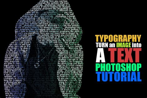 typography tutorial deviantart typography tutorial turn an image into text by how2des