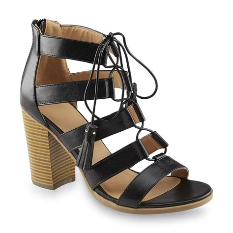 route 66 s marleigh black lace up sandal shoes