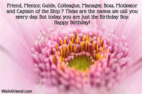 Happy Birthday Wishes To A Mentor Friend Mentor Guide Colleague Manager Boss Birthday