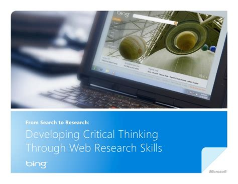 Web Researcher by Developing Critical Thinking And Web Research Skills