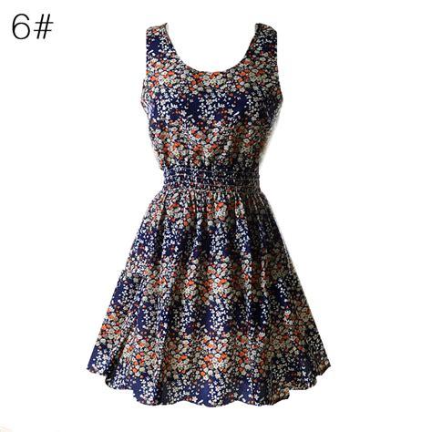 Summer Dress Pantai Sundress Mini Dress Sleeveless Dress Hmd Ru floral summer sleeveless pleated dress