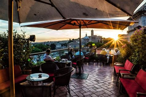 roof top bar rome silverware picture of ristorante roof garden hotel forum