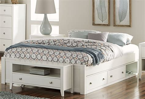 King Platform Bed With Storage by Pulse White King Platform Bed With Storage From Ne