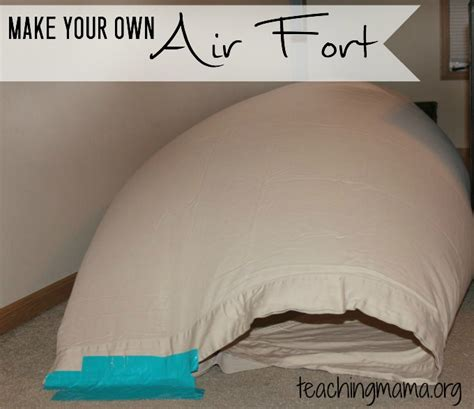 fan for your bed diy air fort