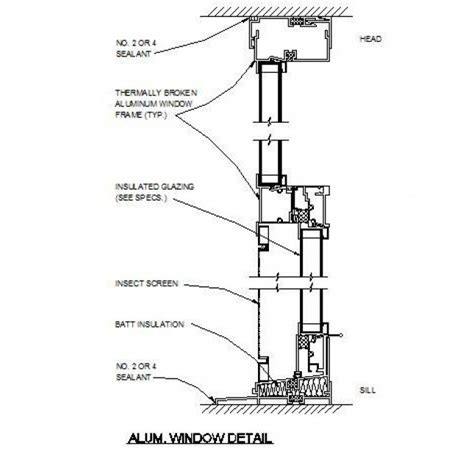 window section cad block cad dwg free aluminium window detail cadblocksfree cad
