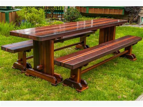 custom cedar picnic tables west shore langford colwood
