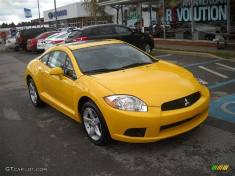 mitsubishi yellow 2009 solar satin yellow mitsubishi eclipse gs coupe