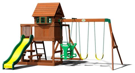 backyard discovery springboro all cedar wood playset