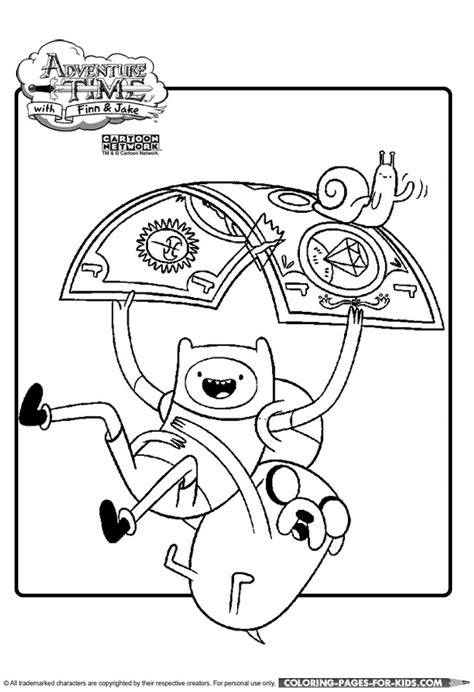adventure time coloring page finn and jake