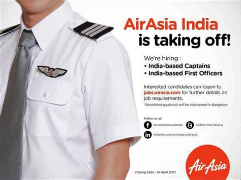 First Time Job Resume by Air Asia India Jobs For First Officers