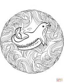 dolphin mandala coloring page dolphin mandala coloring page free printable coloring pages