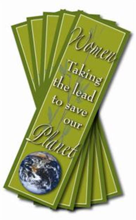 Set Of 30 Bookmark taking the lead to save the planet bookmarks set of