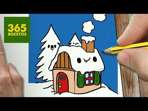 imagenes de la navidad kawaii como dibujar una casa kawaii de navidad