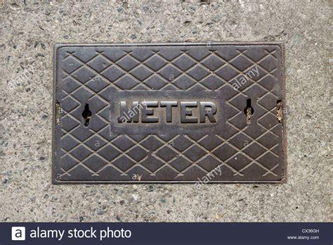 metal water meter box cover meter cover stock photos meter cover stock images alamy