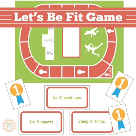 pattern matching board game let s be fit board game free kids printable