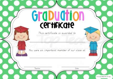 printable graduation certificates certificate templates