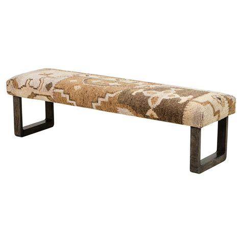 global benches senura global lodge brown kilim patchwork bench kathy