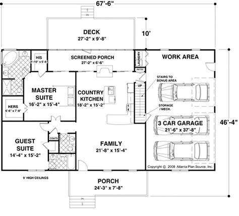 Ranch Style House Plan 2 Beds 2 5 Baths 1500 Sq Ft Plan 56 622