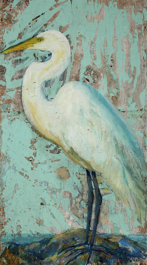 crane painting white crane painting by billie colson
