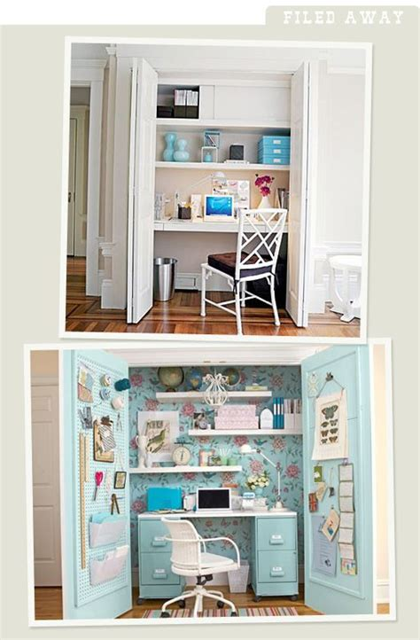 Office Desk In Closet Closet Offices Closet Small Space Office Craft