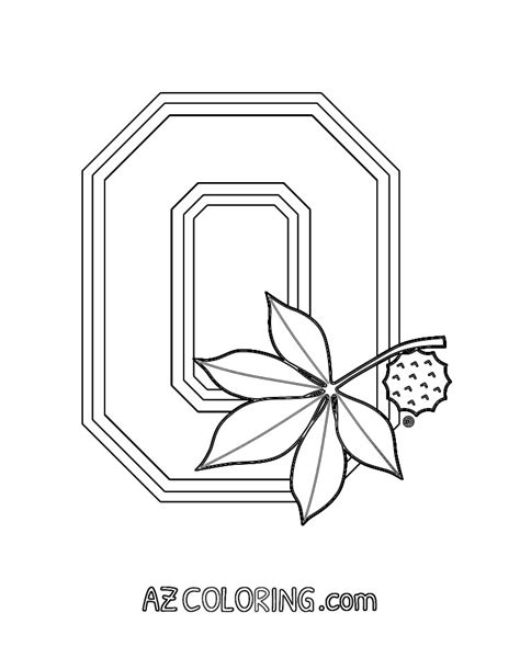 Ohio State Coloring Page ohio state buckeyes coloring pages coloring home