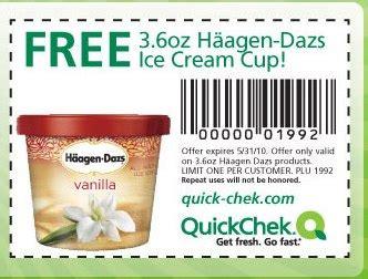 haagen dazs ice cream cup  quick chek