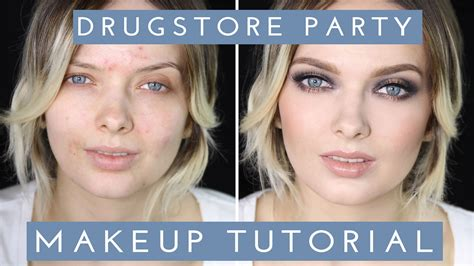 natural makeup tutorial acne acne coverage drugstore party makeup tutorial