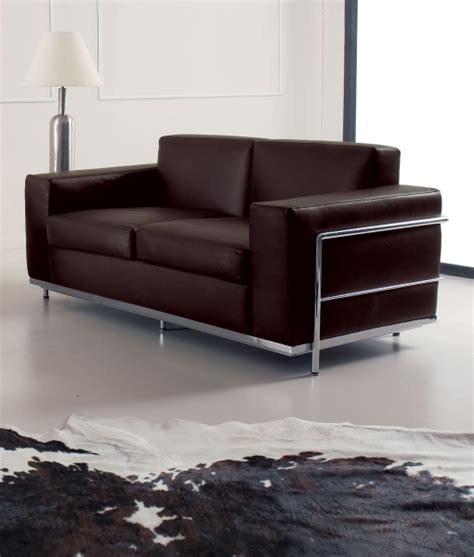metal frame sofa cook 2 seater leather covered sofa idd