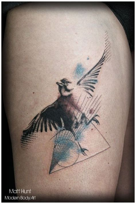 watercolor tattoos birmingham abstract and graphic tattoos by matt hunt birmingham uk