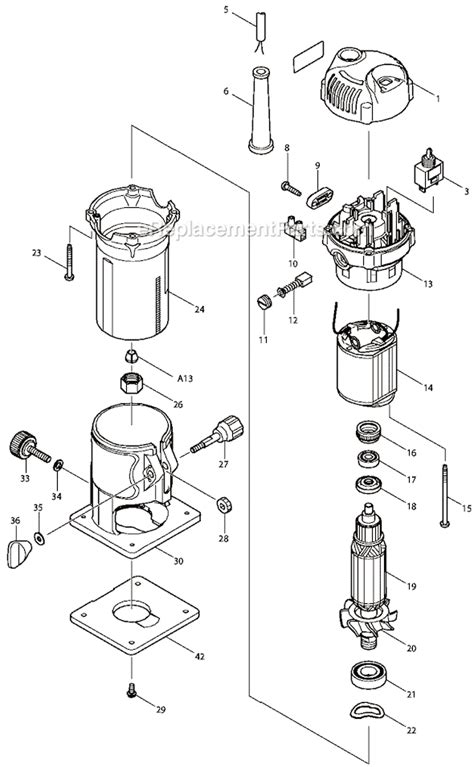 Makita 3709 Light Easy Trimmer makita 3709 parts list and diagram ereplacementparts