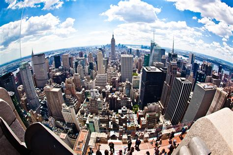 New City Top top of the rock observation deck at rockefeller center