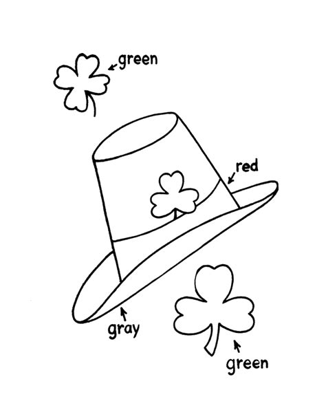 holy trinity shamrock coloring coloring pages