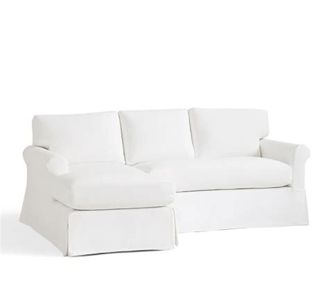 york roll arm slipcovered york roll arm sectional component slipcovers pottery barn