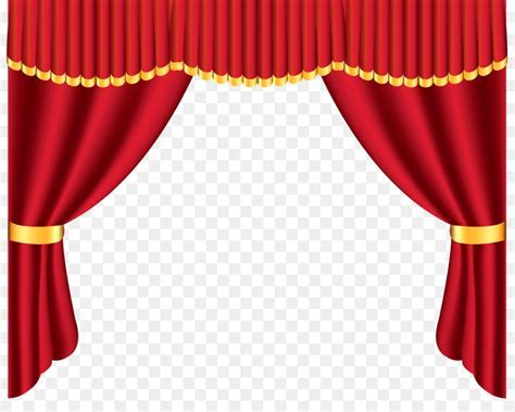 Window treatment Curtain Clip art   red curtains 4964*3901