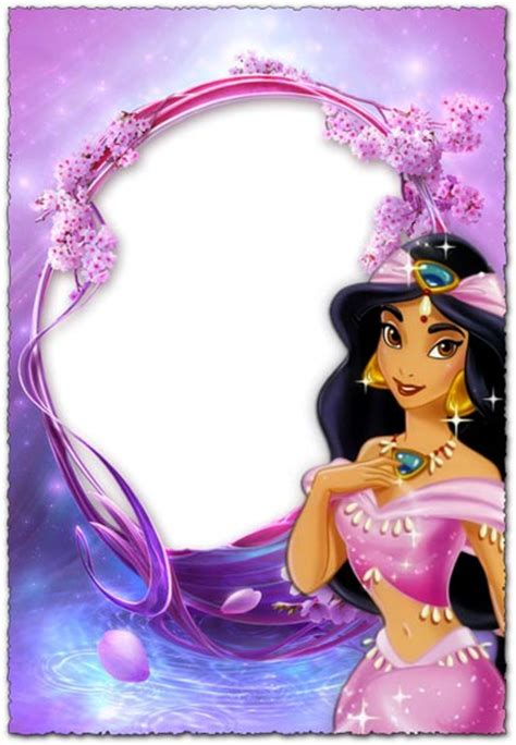 princess jasmine purple photo frame  kids