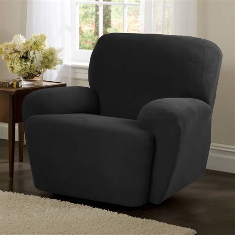 recliner slip covers sure fit stretch pique wing chair recliner slipcover