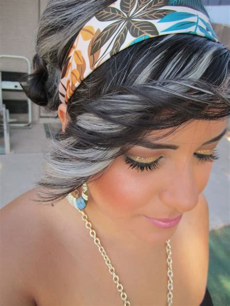 how to put grey highlights in black hair 25 best ideas about silver highlights on pinterest