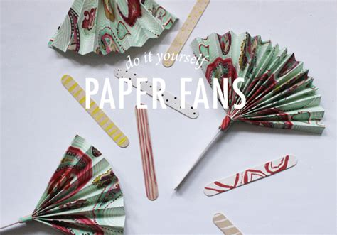 Make Paper Fan - diy paper fan modern wedding