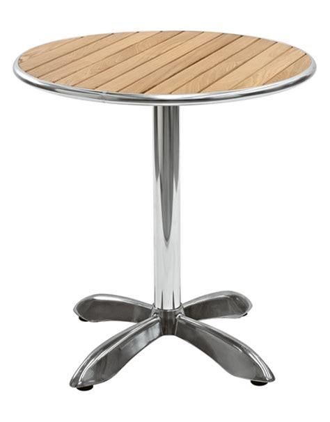 tavolo legno rotondo tavolo in alluminio e legno rotondo diametro cm 80