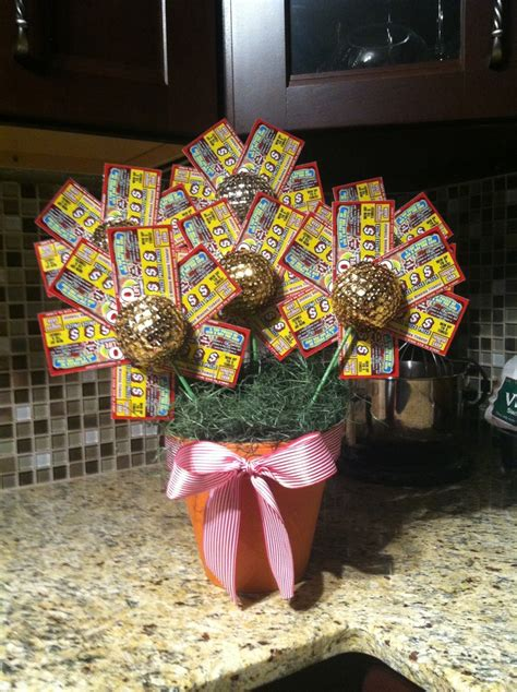 christmas trees decorated with scratch tickets lottery ticket flower pot i see a present for the getting crafty