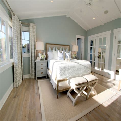 light green walls bedroom ceiling to floor drapes light blue walls master bedroom