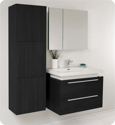 black bathroom vanity cabinet fresca medio black modern bathroom vanity w medicine