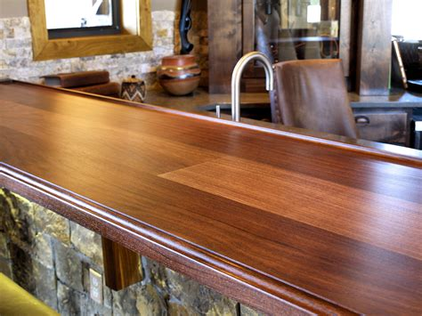 bar top countertop devos custom woodworking tx walnut wood countertop photo