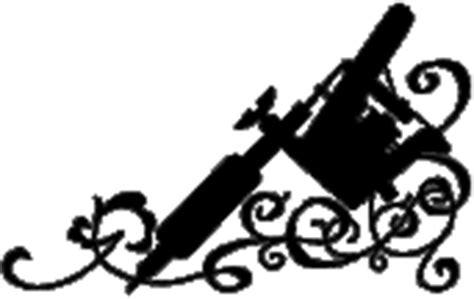 tattoo gun silhouette angel tattoos muskegon michigan usa
