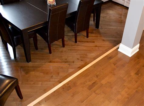 can you use 2 different wood floors in ajoining rooms