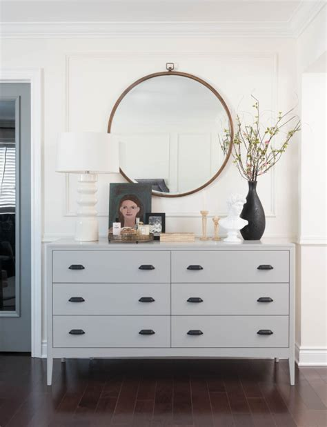 mirror over dresser ideas inspired by round mirrors the inspired room