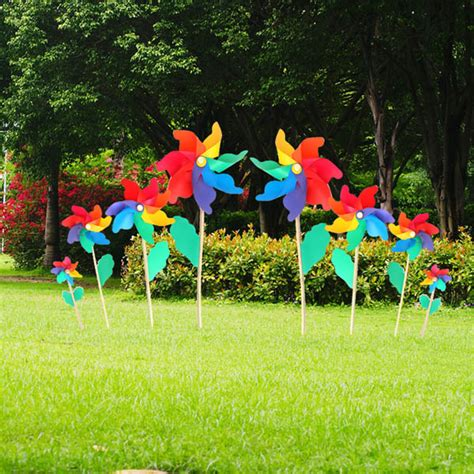Garden Decoration Toys by Colorful Pvc Wooden Windmill Home Garden Wedding