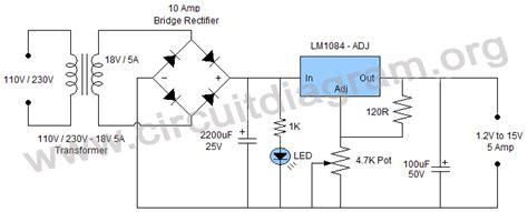 alimentatore 15v simple 1 2v to 15v 5a adjustable regulated power supply