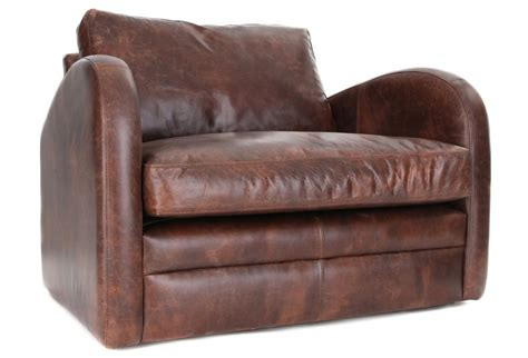 Snuggle Chair by Camden Vintage Leather Snuggler From Boot Sofas