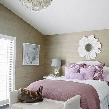 taupe and purple bedroom purple bathroom with purple lotus wallpaper contemporary